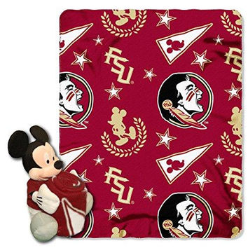 Florida State Seminoles NCAA Mickey Mouse with Throw Combo