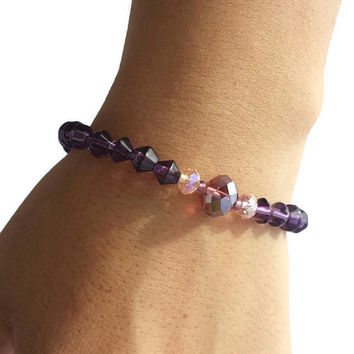 Purple Jewelry Beaded Handmade Bracelets bead bracelet gemstone bracelet boho stacking bracelet set stretch bracelet bracelet best friend