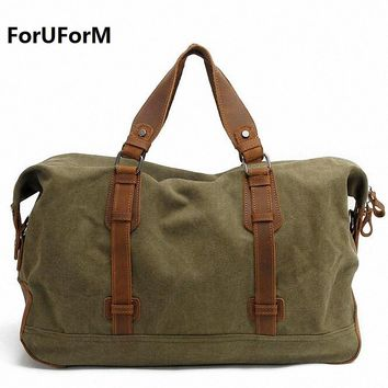 New High Quality Men's Travel Bags Solid Zipper Men Canvas Bag Travel Duffle Bag Bolsa Large Capacity Luggage Tote LI-1492