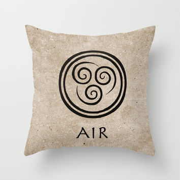 Avatar Last Airbender - Air Throw Pillow by briandublin