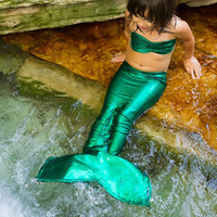 Little mermaid costume Small - Green mermaid Tail for Little Girls 2T-4T