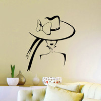 Girl Wall Decals Vinyl Stickers Beauty Salon Decor Fashion Beauty Woman Silhouette Bedroom Living Room Interior Design Home Decor Mural Z800