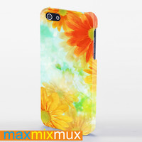 Big Yellow Flower iPhone 4/4S, 5/5S, 5C Series Full Wrap Case
