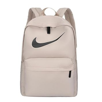 NIKE 2019 new simple canvas men and women backpack Apricot