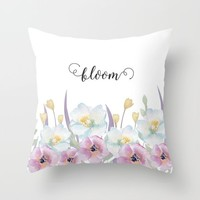 bloom Throw Pillow by Sylvia Cook Photography