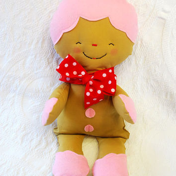 Christmas Gingerbread Soft Plush Rag Doll by BoutiqueVintage72