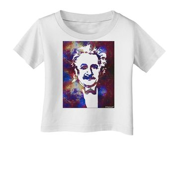 Cosmic Galaxy Einstein Infant T-Shirt by TooLoud