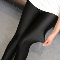 Hot Shiny Black Lady Push up Leggings