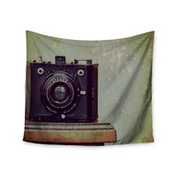 "Robin Dickinson ""Time"" Black Brown Wall Tapestry"