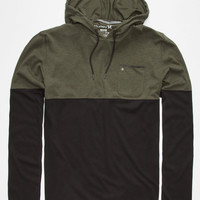 Hurley Dri-Fit Adams Mens Lightweight Hoodie Dark Green  In Sizes