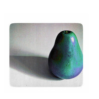 Decorative Glass Cutting Board 6 x 7 - Groovy Pear - turquoise, purple, kitchen, newlyweds, new home, fun design - Made To Order - GP#79