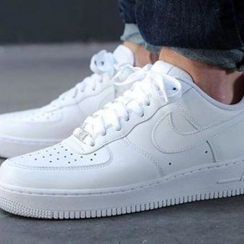 Kalete NIKE Nike Air Force 1 Women Men Running Sport Casual Shoes Sneakers White High Quality I