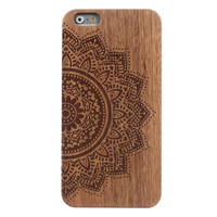 943718N indigo flowered mandala Style Hard Transparent Phone Cases Cover for iPhone 5 5s 4 4s 6 plus 5c Clear