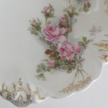 German Porcelain Rose Bowl Malmaison Porcelain large Bowl Rosenthal Bavaria Bowl