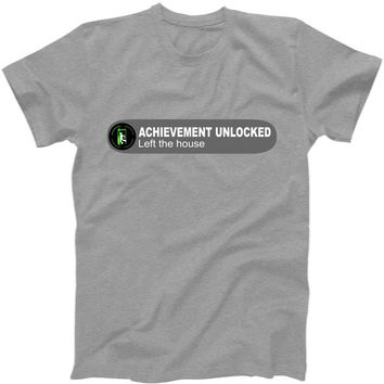 Achievement Unlocked Left The House T-Shirt | TeeShirtPalace