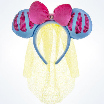 disney parks princess snow white bow & veil ears headband youth size new with tags