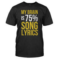 My Brain is 75% Song Lyrics