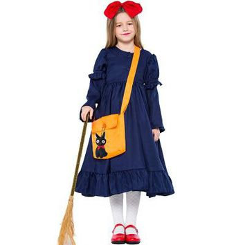 Kiki's Delivery Service cosplay costume  adult kid dress for Halloween carnaval purim party event