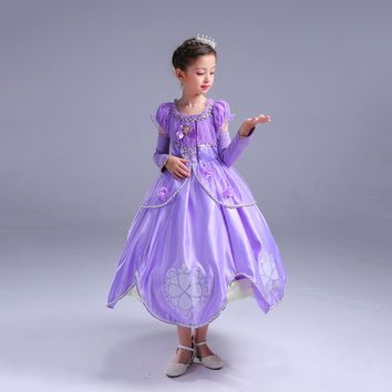 Princess Costume - Lavender Bubble Gown Skirt Sofia Dress - 👗💘👑🎃👠