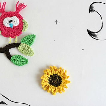 Crochet PATTERN Woodland Creatures appliques - OWL set DIY