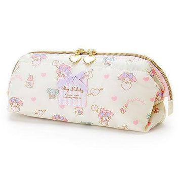 SANRIO MY MELODY WATER REPELLENT PEN CASE / COSMETIC BAG LOVE 667633N