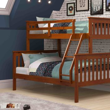 Jayden Espresso Twin over Full Bunk Bed