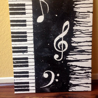 Piano Melted crayon art
