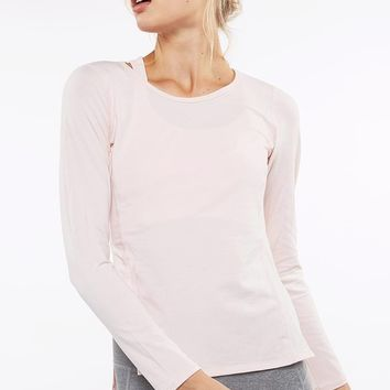 Debra Contour Seam Long Sleeve - Blush