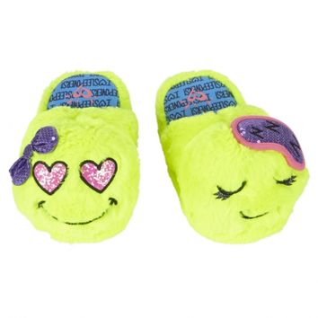 EMOJI SLIPPERS | GIRLS PAJAMAS SLEEP & UNDIES | SHOP JUSTICE