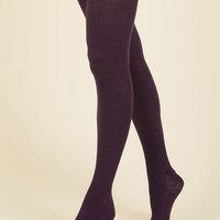 Homework Bound Tights in Plum | Mod Retro Vintage Tights | ModCloth.com