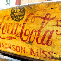 1910 Coca-Cola 'JACKSON MISS' Wooden Crate FREE SHIPPING