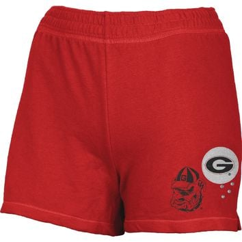 Georgia Bulldogs - Glitter Logo Girls Youth Athletic Shorts - Youth