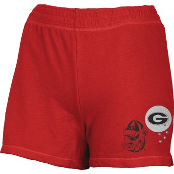 Georgia Bulldogs - Glitter Logo Girls Juvy Athletic Shorts - Juvy