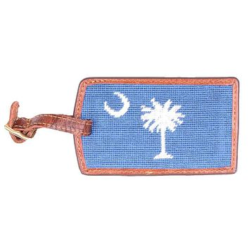 South Carolina Needlepoint Luggage Tag in Blueberry by Smathers & Branson