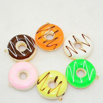 Hot Kawaii Donuts Soft Squishy Colorful Cell phone Charms Chain Cute Straps