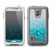 The Turquoise & Silver Glimmer Fade Samsung Galaxy S5 LifeProof Fre Case Skin Set
