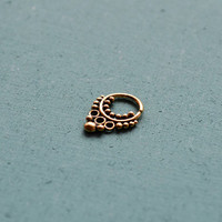 Tribal septum ring for pierced nose / 18g / Ethnic septum / Septum jewelry / Nose jewelry / Tribal body jewelry / Belly dance jewelry
