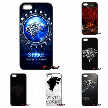 For Samsung Galaxy Note 2 3 4 5 S2 S3 S4 S5 MINI S6 Active S7 edge GOT Game Of Thrones House Stark Logo Phone Case