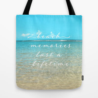 Beach memories last a life time Tote Bag by Sylvia Cook Photography