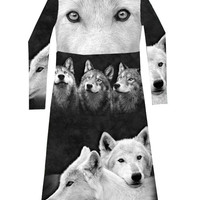 Full Of Wolves T-Shirt Dress