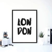london print,poster black and white,watercolor design,home decor,wall decor,wall hanging,inspirational quote,word art,instant download