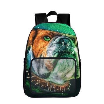 Boys Backpack Bag 2017 School Orthopedic School  for Wolf Lion and Dogs Fashion Printing s Animal Infant s Minnie AT_61_4