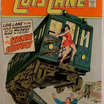 DC Comic Supermans Girl Friend Lois Lane No 137 The Stolen Subway 1974 Book Vtg