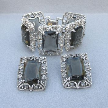 HUGE 1962 Vintage Sarah Coventry CELEBRITY Bracelet & Earrings Set