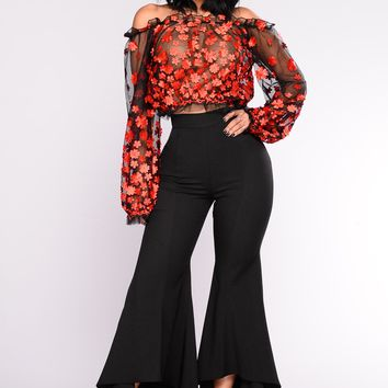 Ride The Wave Flare Pant - Black