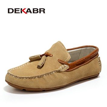 Flats New Authentic Casual Men Shoes Genuine Leather Loafers Handmade  Driving Shoes Moccasins Men Loafers