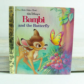 Walt Disney's Bambi and the Butterfly - a 1997 First Little Golden Book, Illustrated by Robbin Cuddy - No 98408-01