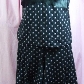 Black Pink, Culotte,  Pajama Set, Camisole, Lounging, Alfani Intimates, Size L Large, Resort Cruise Wear