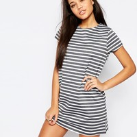 Missguided Stripe T-Shirt Dress at asos.com