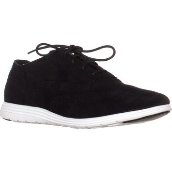 Cole Haan Grand Tour Oxford Sneakers, Black Suede/Black, 7.5 US